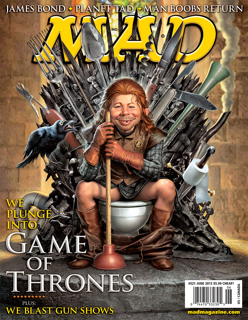 Mad Magazine puts  Alfred E. Neuman on the iron throne.