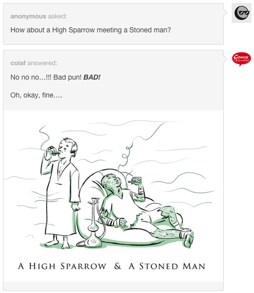 High Sparrow and Stoned Man